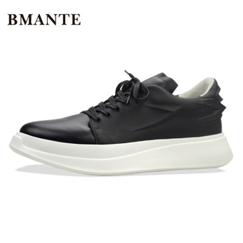 Luxury Trainers Summer Male Adult Shoes New Men Genuine Leather Shoes Casual Lace-Up Business Flats Spring Black Rivet Shoes men summer increase leather shoes 6cm comfortable business casual black blue us9 5 lace up leather shoes cy712 2