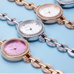 Image 4 - Kimio marca pequena dial feminino pulseira relógio 2018 luxo diamante quartzo relógios senhoras vestido de cristal relógio de pulso reloj mujer