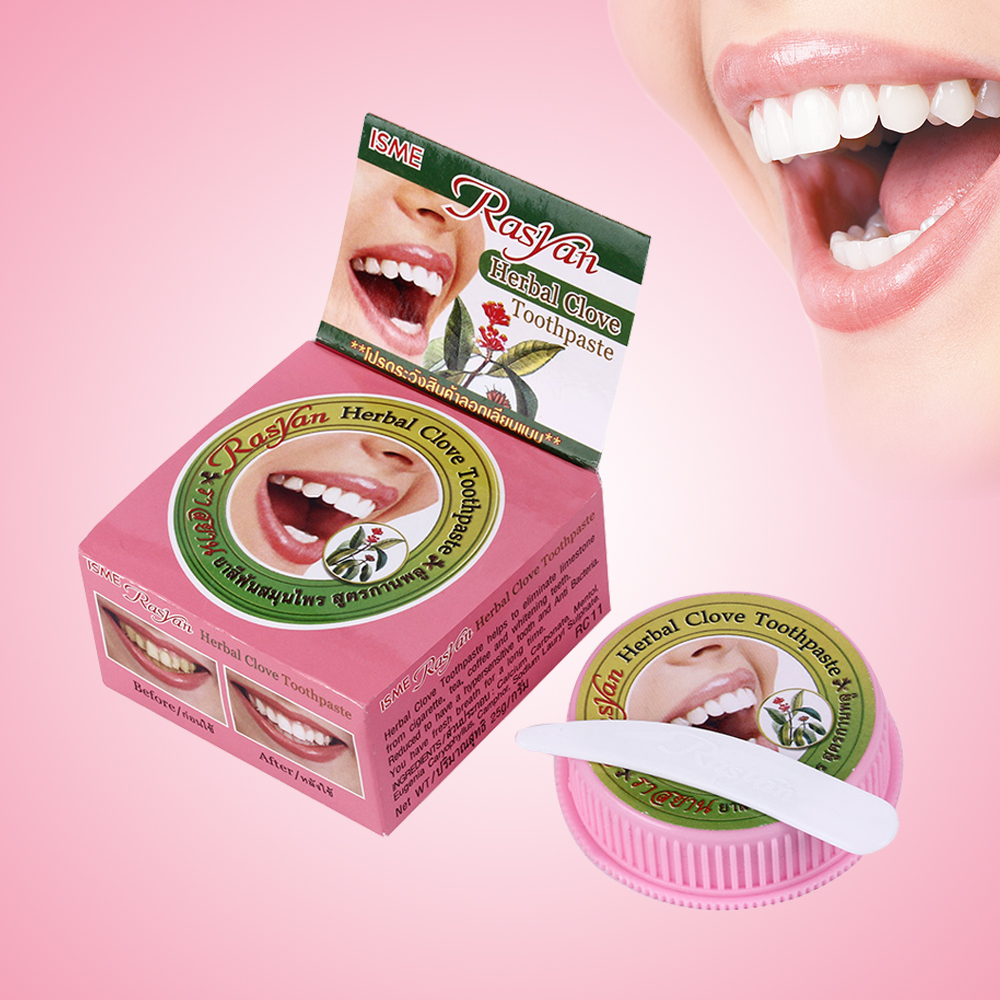 Whitening Toothpaste Herbal-Clove Natural Antibacterial Remove-Stain Allergic