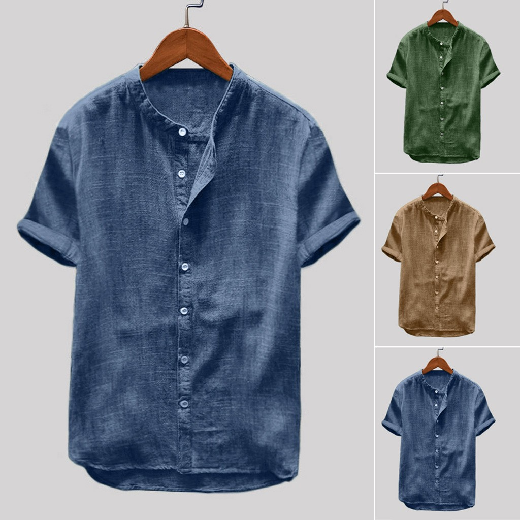 Abetteric Men Satin Wrinkle-Free Long Sleeve Embroidery Plus Size Shirts