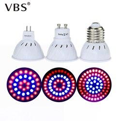 Светодиодная лампа для выращивания, лампа E27/GU10/MR16, светильник для растений, 220 В, светильник для выращивания растений, красный, синий, светод...