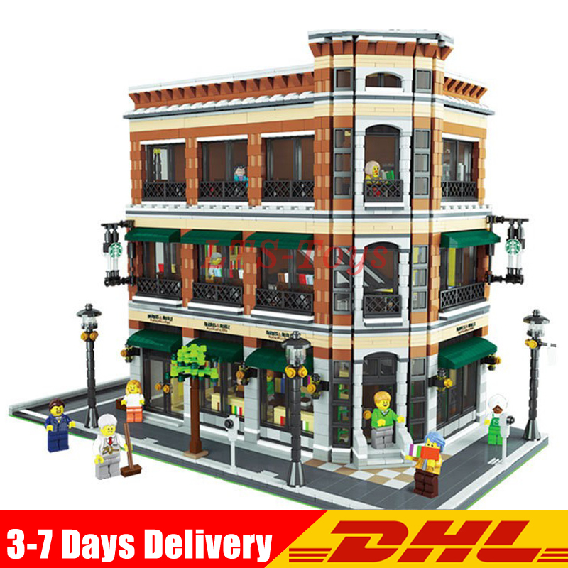 Lepin 15017 4616Pcs Creator Expert Starbucks Cafe Bookstore Model Building Kits Birthday Toy Compatible With Legoing 10243 футболка рингер printio belles book cafe starbucks