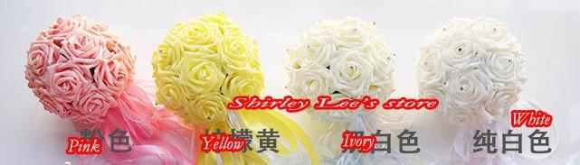 Uus !!! 8 X armas vaht roosid w / diamante pruutneitsi lille kimp - Pühad ja peod - Foto 2