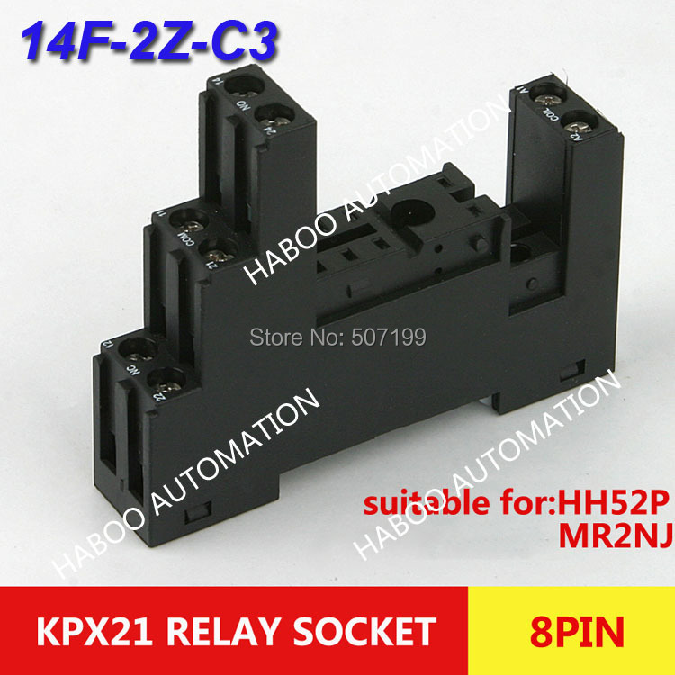 10pcs/lot 8 pins mini PCB HABOO series relay socket PI-50BE/3 electrical socket for KPX21 PI-50BE/3 relay switch 300v
