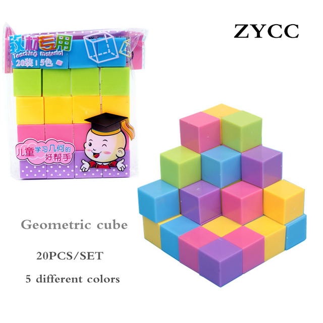 Geometria Insegnamento Cubo Dimensionale Bambini Creativi Building