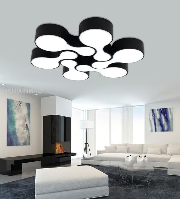 NEUE Moderne Led Bowling Deckenleuchte Hause Wohnzimmer Schlafzimmer  Minimalismus Deckenleuchten Weiß Und Schwarz Körper Dekoration 85