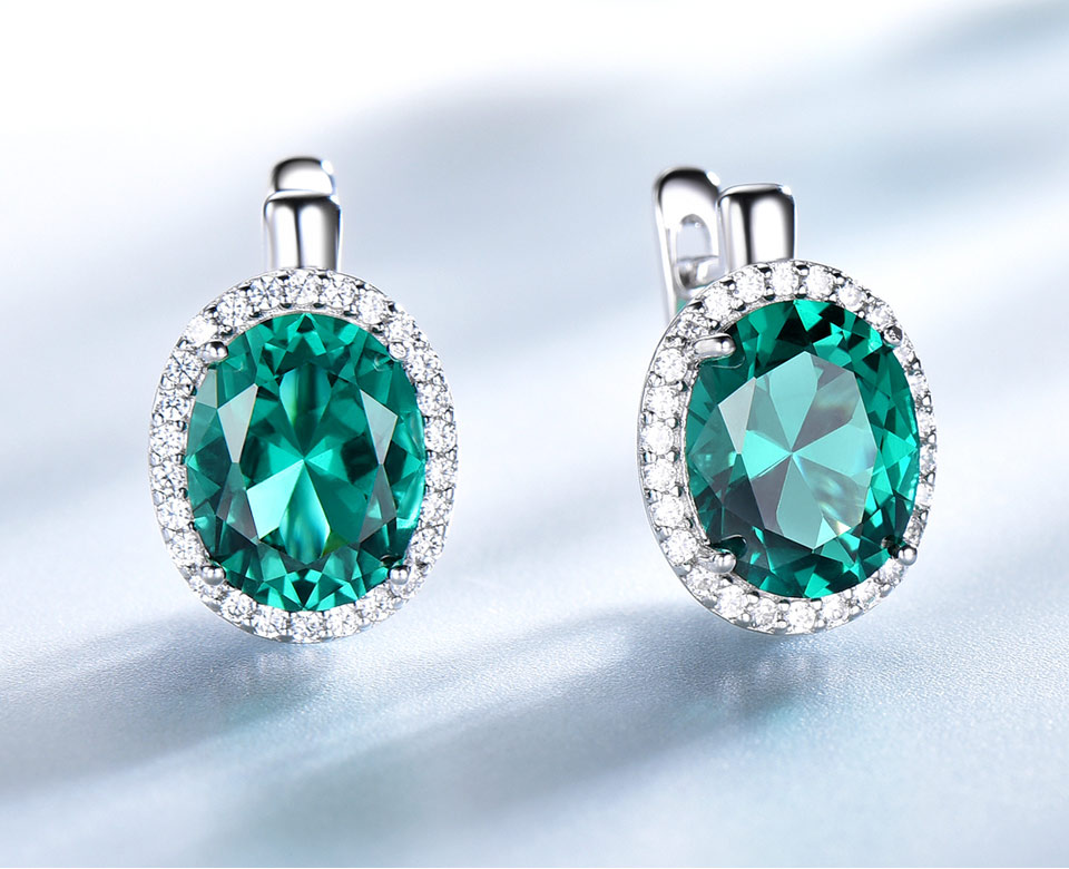 UMCHO-Emerald-925-sterling-silver-clip-earring-for-women-EUJ084E-1-PC_03