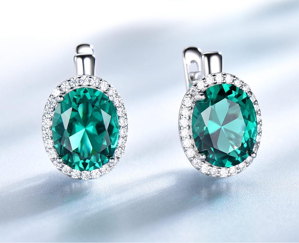 Honyy-Emerald-925-sterling-silver-clip-earring-for-women-EUJ084E-1-PC_03
