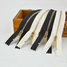 10pcs/Lot Zippers Black Closed End Metal Gold Teeth Sewing Zippers Accessories For Jeans Casual Pants Placket(China)