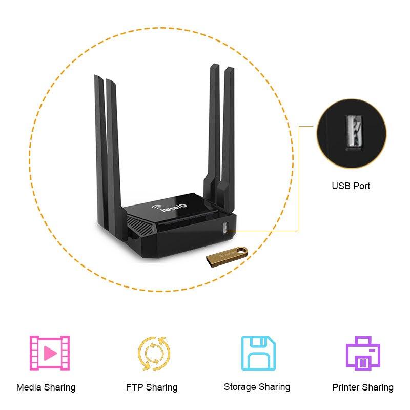 Cioswi Smart Wi-Fi роутер 300 Мбитс 4 Внешние антенны поддержки 3g USB modem wifi repeater большой диапазон Openwrt маршрутизатор 2,4 ГГц Wi-Fi усилитель