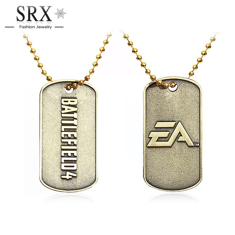 2016 Men Jewelry BF4 Battlefield 4 Dog Tag Military card font b Pendant b font font