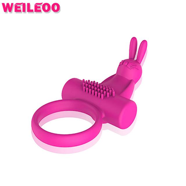 Coelho vibrando anel peniano pênis anel vibrador cockring pênis anneau produtos adultos do sexo brinquedos do sexo para homens brinquedos sexuais para casais