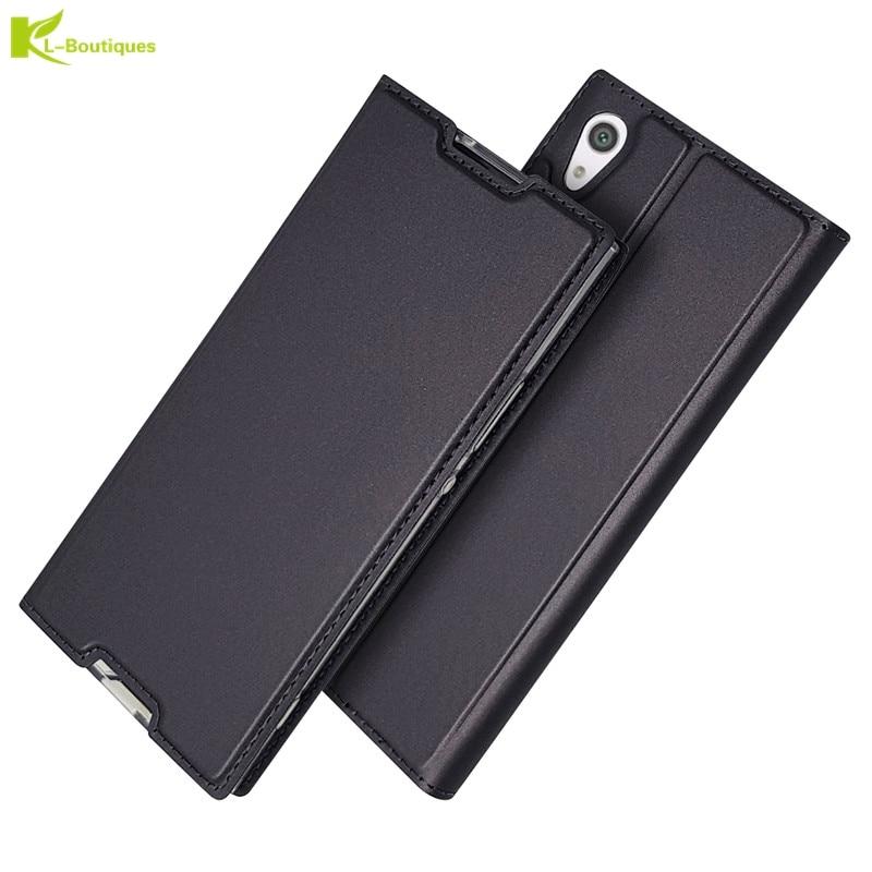 Wallet Cover Leather Etui Coque Sony Ultre Xz1 Compact XZ3 Xz2 Premium Mini Xperia L1