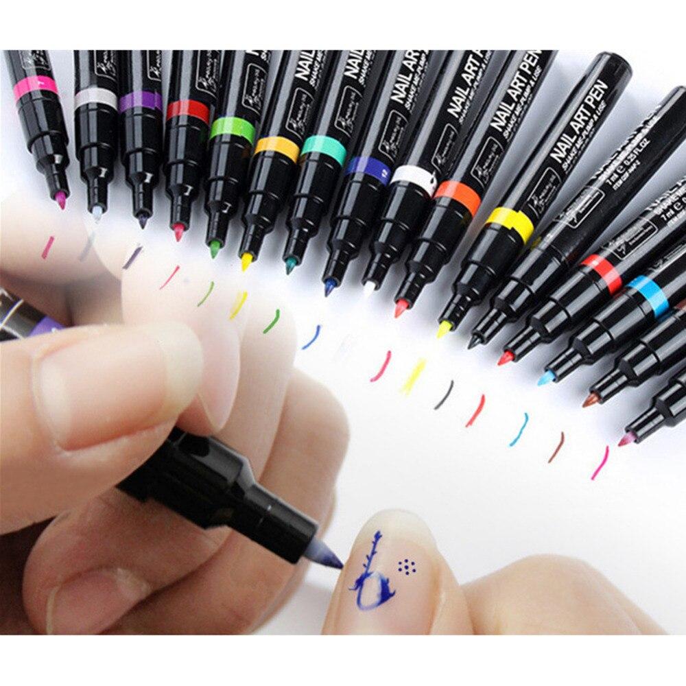 Nail Art Pen Colorful Dual Nail polish pen Multi-Function Assorted Colors Beauty Painting Pen Nail Art Dotting Decorations