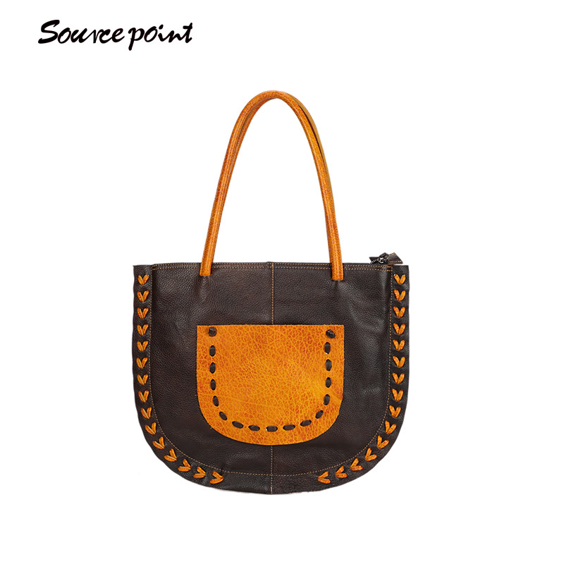 large SOURCE POINT Capacity Women Shoulder Bag Female Casual Tote Handbag Famous Brands High Quality Messenger Bags YD-06622# joypessie lady top handle bags backpack women famous brands female casual shoulder bag tote for ladies large capacity backpack