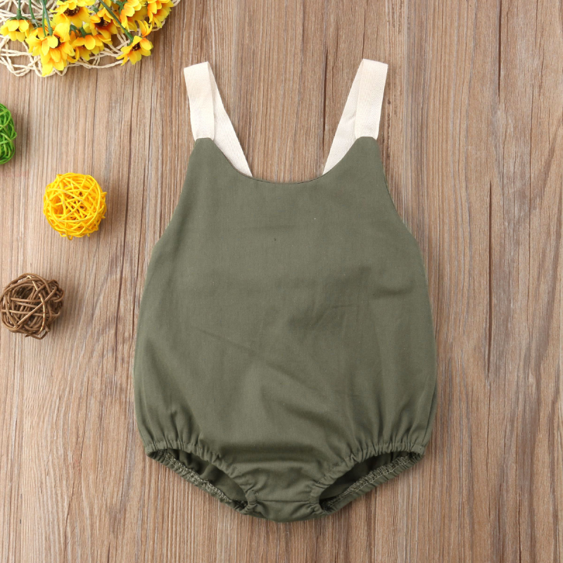 HTB1DX5Tk5MnBKNjSZFzq6A qVXaf 0-24M Newborn Kid Baby Girl Clothes Summer Bowknot Backless Romper Casual plain Outfits Infantil Clothing  costume