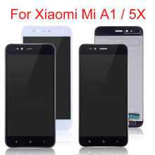 5.5 LCD Display For Xiaomi Mi A1 LCD Touch Screen Digitizer Replacement For Xiaomi Mi A1 Display MiA1 Mi 5X Mi5X Black White original used xiaomi mi a1 mia1 mi5x mi 5x m5x lcd display touch screen panel digitizer with frame assembly sensor replacement