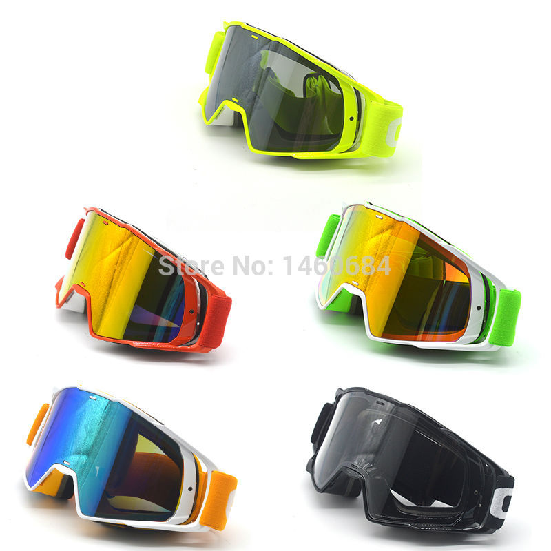 Nueva Goggle tintado UV Raya Motocicleta Gafas Motocross Bike Cross Country Gafas flexibles Snow Ski Lunette