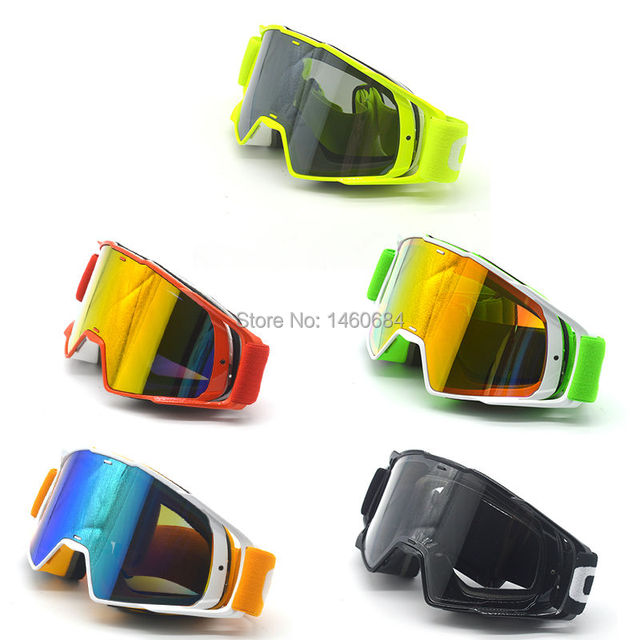 New Goggle Tinted UV Stripe Motorcycle Goggles Motocross Bike Cross Country Flexible Goggles Snow Ski Lunette