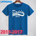 New Summer Style Daddy Since2017 2016 2015 2013 2012 2011 Funny T Shirt Men  Short Sleeve Father's Day Dad Born Baby Maternity
