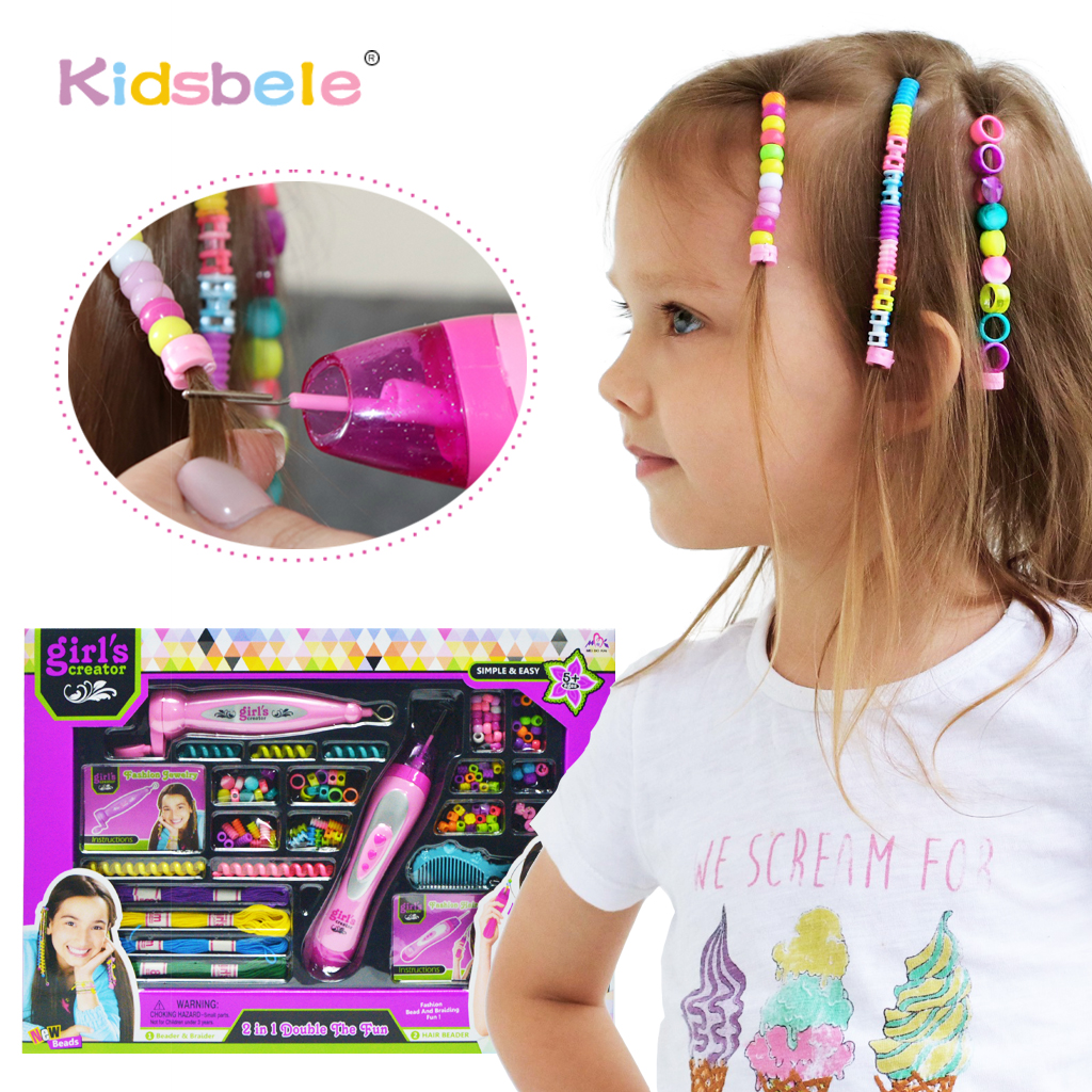 Girl Toy Fashion Braider Hair Accessories Colorful Dress Up Kids Toy For Children DIY Toy For Girls Educational Beauty Toys girl