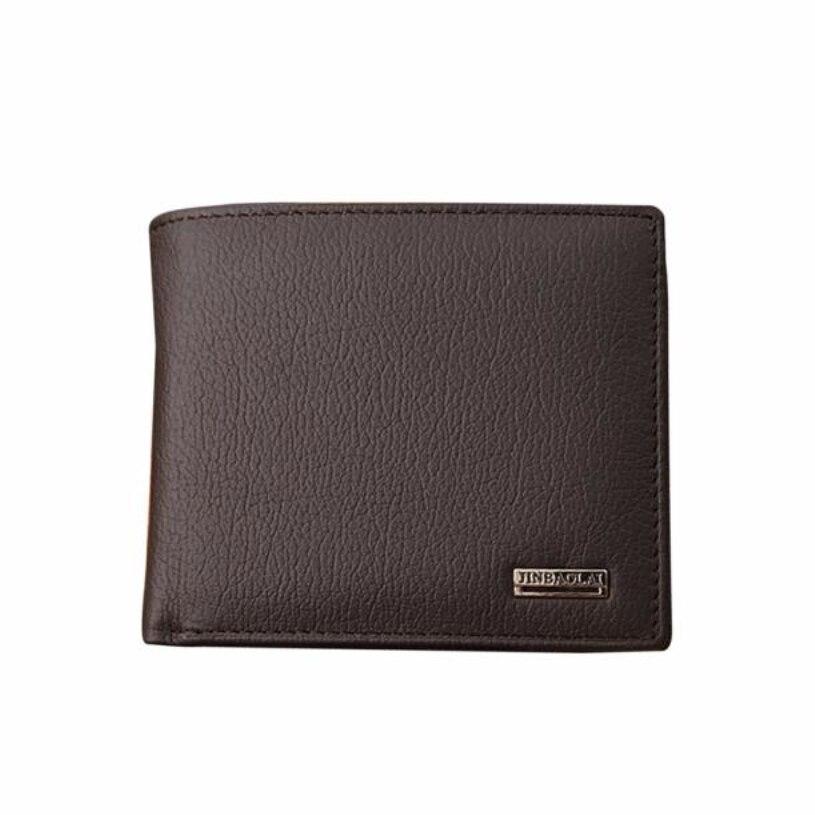 Brand new Men Leather Card Cash Receipt Holder Organizer Bifold Wallet Purse Gift Hot sale carteira masculina Dropshipping