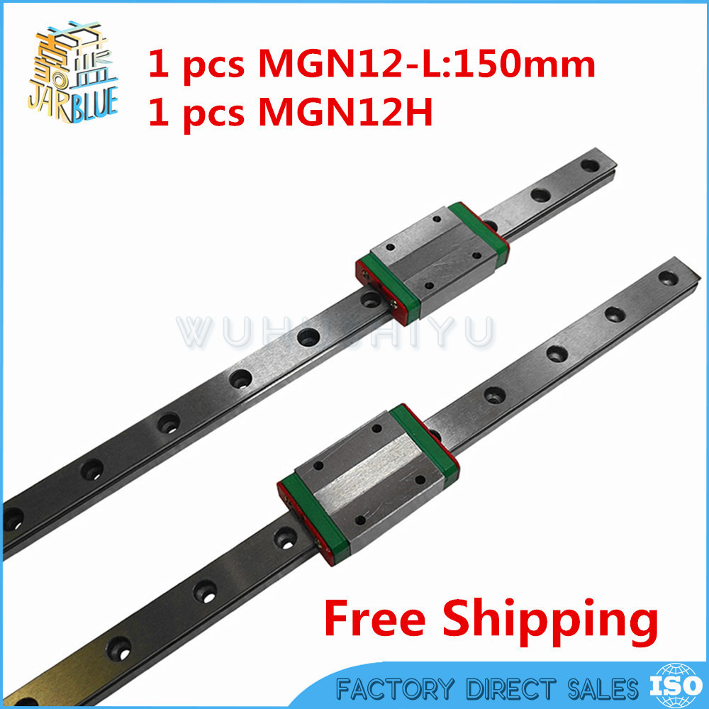 Kossel Mini for 12mm Linear Guide MGN12 150mm linear rail + MGN12H Long linear carriage for CNC X Y Z Axis 3d printer part flsun 3d printer big pulley kossel 3d printer with one roll filament sd card fast shipping