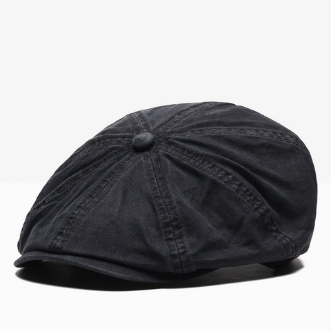 NUZADA British Style Flat Cap Visor Caps Cotton  Women Men Unisex Beret Hats Spring Autumn Retro Solid Color Boina Lahore