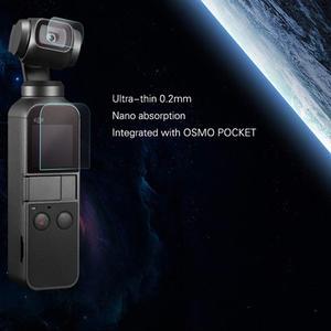 Image 3 - Osmo dji osmo cep aksesuarları ekran koruyucu cep filmler lens koruyucu Film aksesuarı 4K Gimbal kapak