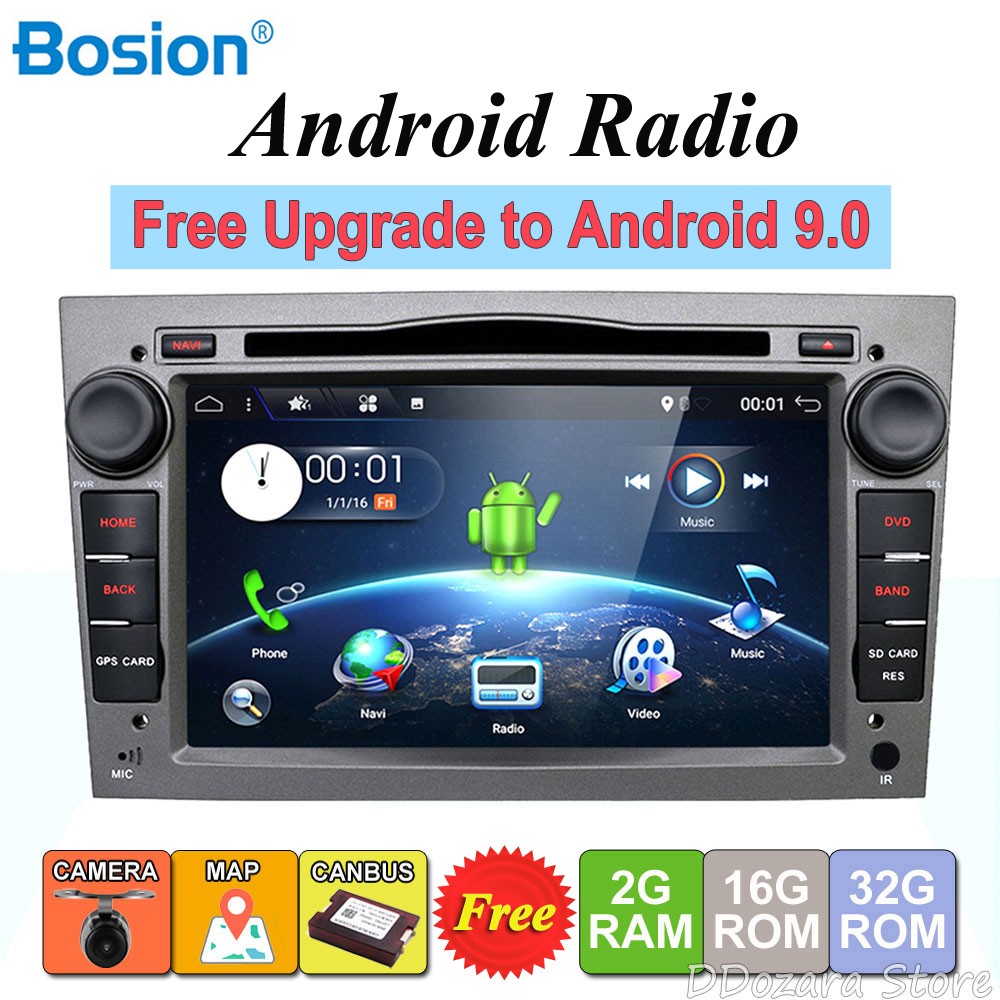 2 din Quad Core Android 7.1 Car tape recorder GPS DVD Player For Opel Astra H Vectra Corsa Zafira B C G support OBD2