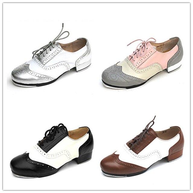 1f98de849a Sapatas dos homens Das Sapatilhas Dos Esportes Das Mulheres Genuíno Sapatos  de Sapateado de Couro Correspondência
