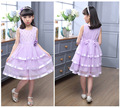 girl princess dress kids cute flower lace mesh patchwork girls christmas gift beautiful baby clothes children clothing 4-12T