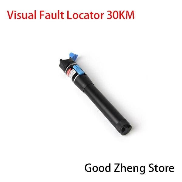 Красный лазерный свет волоконно-оптический кабель тестер Визуальный дефектоскоп проверки для 30 км