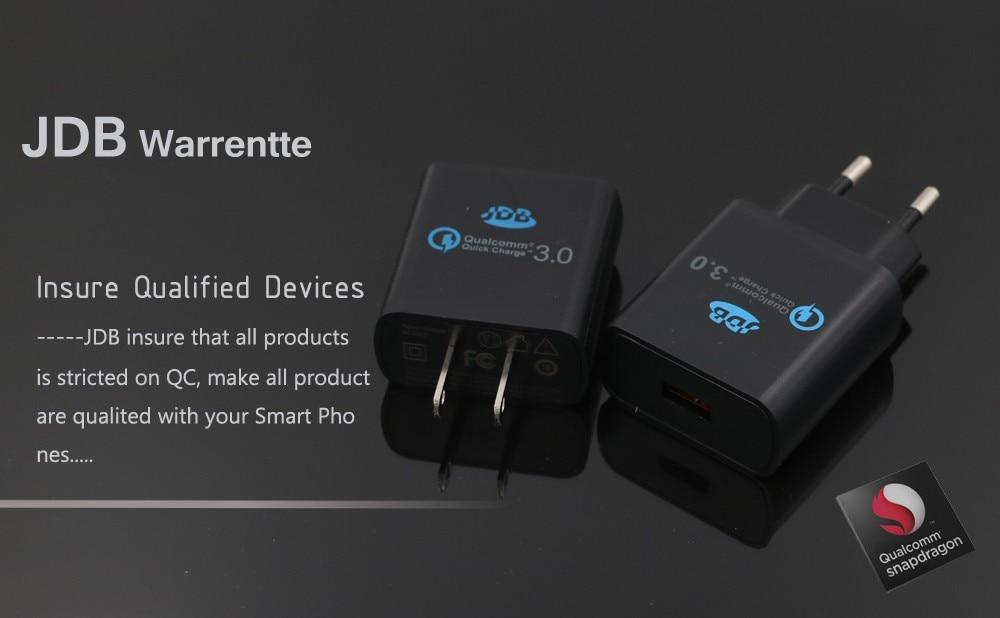 JDB 5800 110V/240V-USB טעינה מהירה Qualcomm QC3.0 מטען קיר 24W עבור Samsung Galaxy iPhone