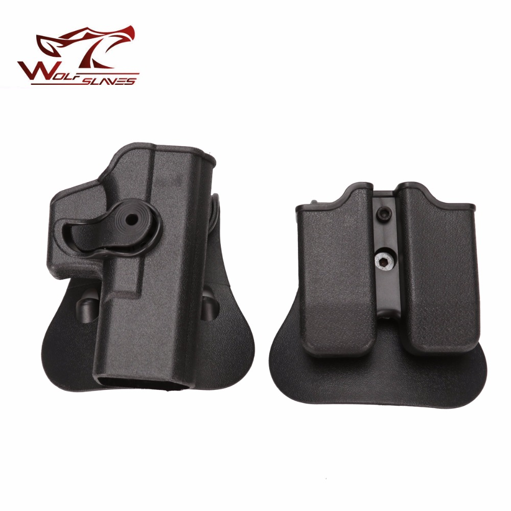 92 IMI Quick Draw Rotate Tactical Holster & Double Magazine Paddle Pouch Belt Clip Right-Handed Military Gun Accessories