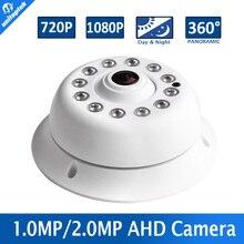 Аналогового Видеонаблюдения 1MP 2-МЕГАПИКСЕЛЬНАЯ Панорамный AHD Камеры Рыбий глаз 360 Градусов 720 P 1080 P ИК 10 м CCTV Камеры Безопасности Крытый использовать