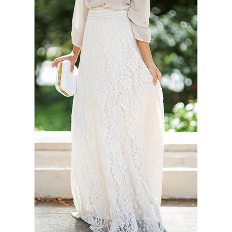 Women Summer Gypsy Boho Lace Layered Hitched Maxi rt A Line Long Dress