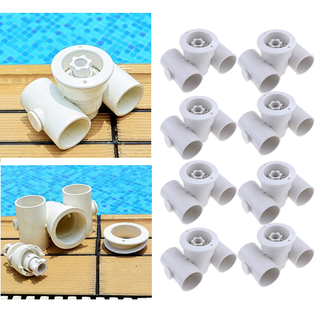 8pcs/set Swimming Pool Spa River Jet Massage Pool Massage Nozzle Big Power Jet ABS Swimming Pool Accessories