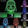 Star Wars Dark Warrior 7 color 3D LED Luz de La Noche de Todos Los Colores de Flash A Su Vez y regalo a un amigo