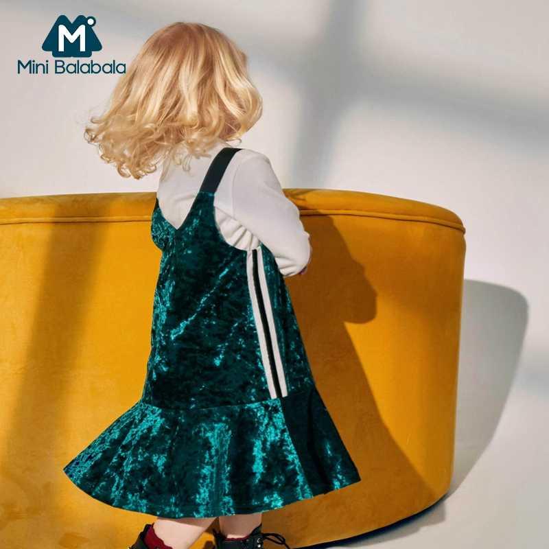 MiniBalabala/детское велюровое платье для девочек; бархатные платья; нарядные платья без рукавов; одежда для маленьких девочек
