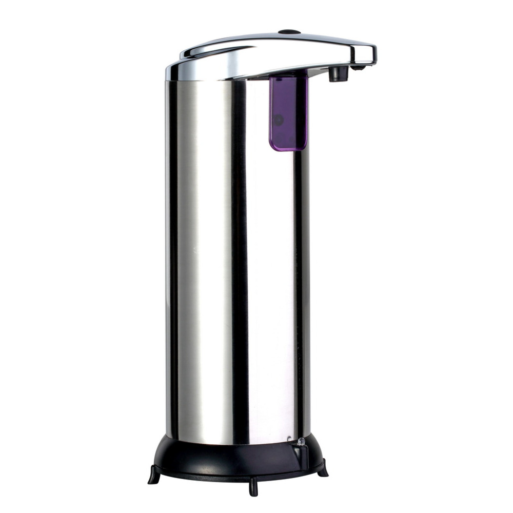 280ML New Stainless Steel IR Sensor Touchless Automatic Liquid Soap Dispenser for Kitchen Bathroom Home Black NEW Arrival 2015 image
