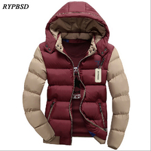 New Arrival 2017 Winter Jacket Men Warm Casual Hooded Parka Men Cotton Padded Jacket Casual Thick Outwear Handsome Male Coat 3XL
