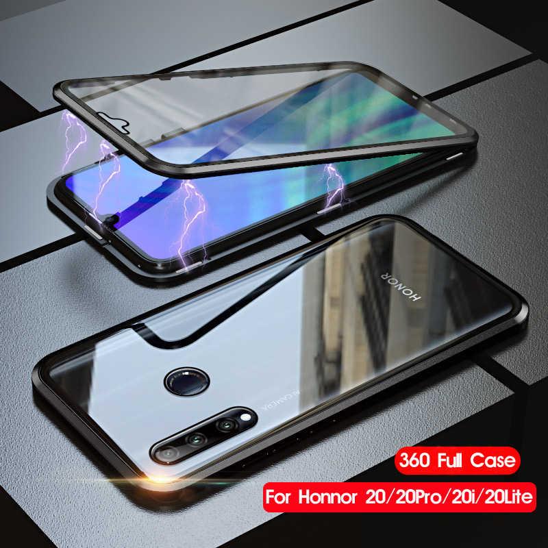 両面強化ガラス 360 Huawei 社の名誉 20 プロ磁性金属シェルガラスカバー Honor20 プロケースに