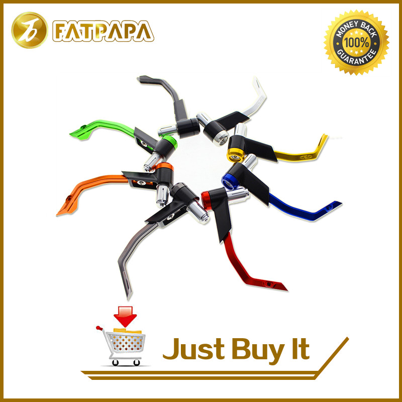FATPAPA -7/8 Free shipping motorcycle brake clutch protection lever for Yamaha YZF R1 R3 R6 R125 Tmax530 Tmax500 6 colors cnc adjustable motorcycle brake clutch levers for yamaha yzf r6 yzfr6 1999 2004 2005 2016 2017 logo yzf r6 lever