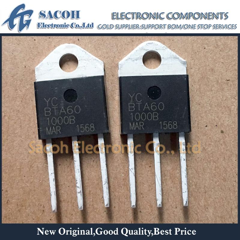 Новый оригинальный 10 шт./лот BTA60-1000B BTA60-1000 или BTA60-800B или BTA60-600B BTA60 TOP3I 60A 1000V/800V/600V Дискретная Traics