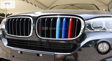 цена на New Accessories For BMW X5 2014 X6 F16 2015 Car Styling Front Grille Grill cover molding trim 3 Pcs / Set