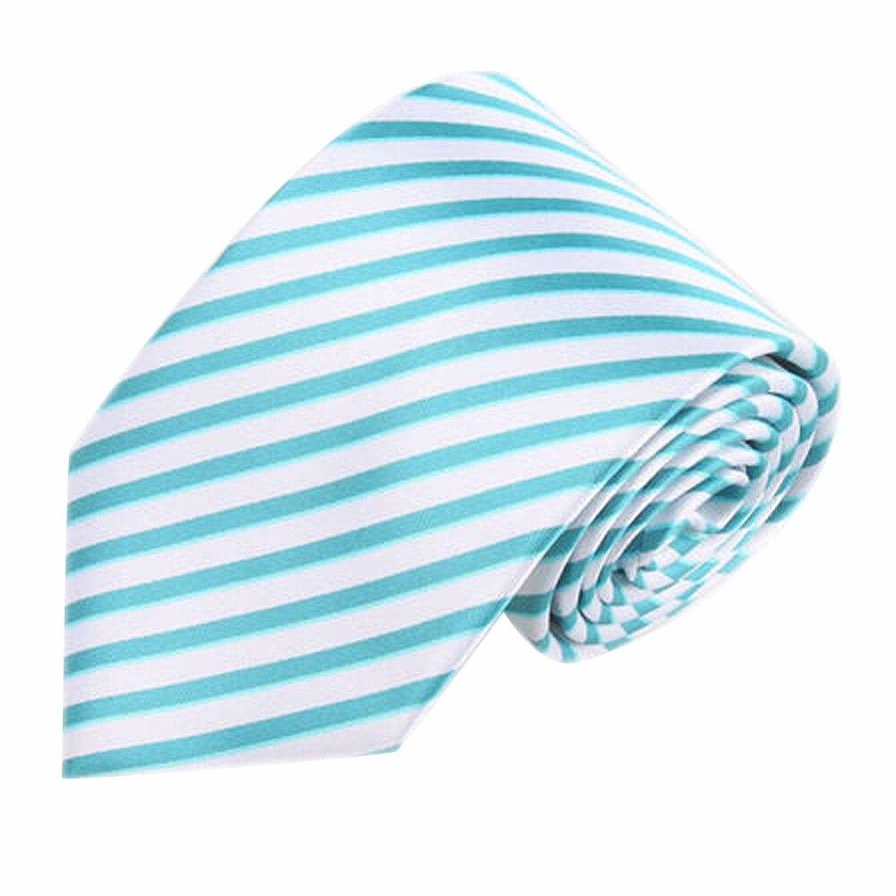 NºNueva corbata de seda mezcla de Color clásico a rayas tejido ...