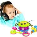 5 unids nuevo bebé drum roll instrumentos musicales kit band niños toys gift set