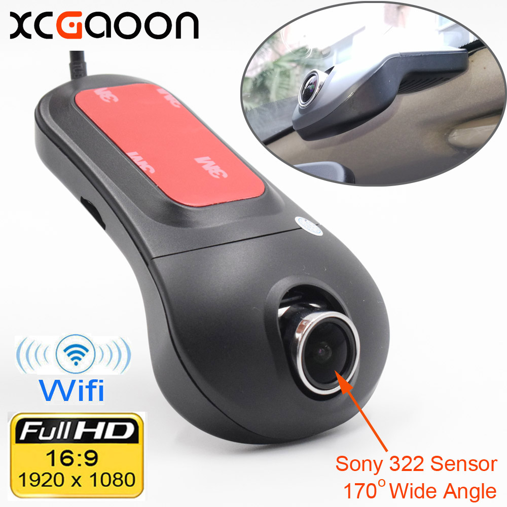 XCGaoon Wifi Car DVR Registrator Cyfrowy rejestrator wideo Kamera Dash 1080P Night Version Novatek 96655 Obrót 60 stopni