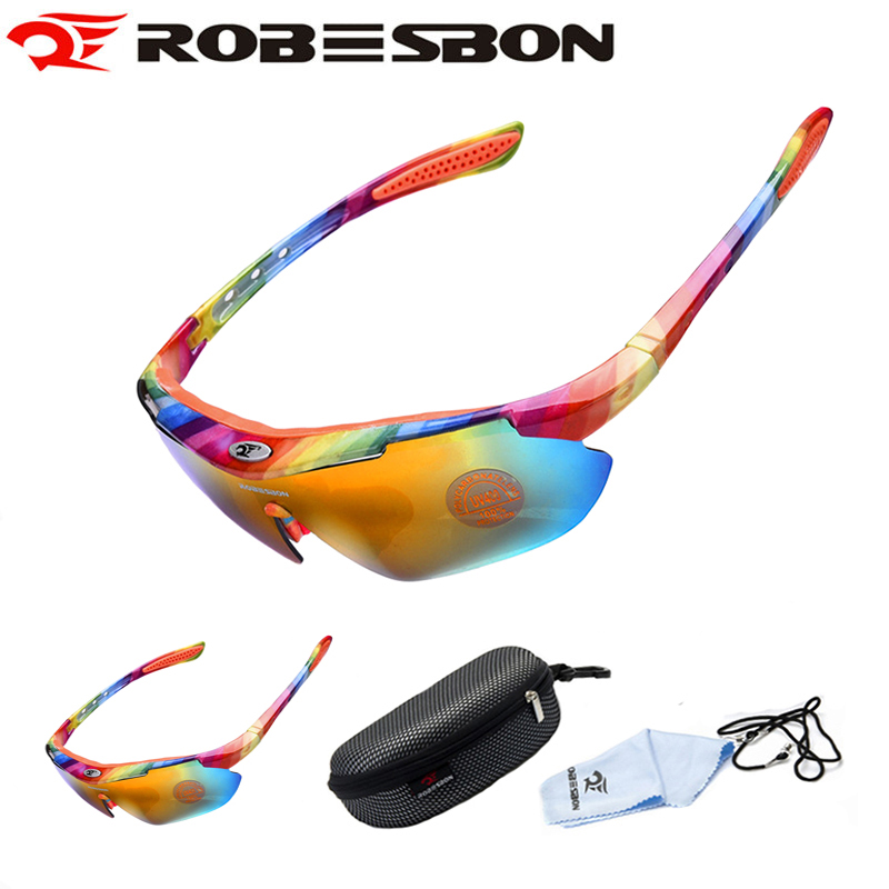 ROBESBON UV400 Sport Glasses Cycling Eyewear Fishing Riding Bicycle Sunglasses Men Women Mountain Bike Goggles Tactical 12 Color